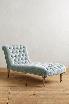 Anthropologie Slub Velvet Orianna Chaise