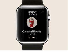 Apple Watch Starbuks app demo