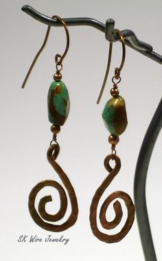 Hammered Copper and Turquoise