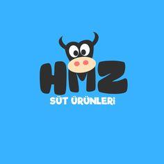 HMZ Logo Çalışması #logo #logodesign #mascot #milk #cow #design #graphics