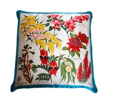 Australian Wild Flowers Vintage Satin Scarf Cushion  £74.00