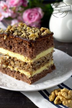 Romanian Desserts, Cake Recipes, Dessert Recipes, Breakfast Menu, Polish Recipes, Confectionery, Banana Bread, Sweet Treats, Food And Drink