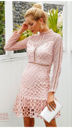 Elegant Dresses, Sexy Dresses, Short Dresses, Fashion Dresses, Women's Fashion, Fashion Clothes, Long Sleeve Chiffon Dress, Ruffle Dress, Summer Dresses For Women