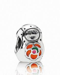 PANDORA Charm - Sterling Silver  Enamel Babushka | Bloomingdale's