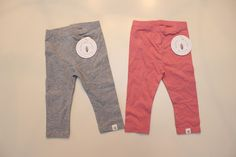 NWT BURT'S BEES LOT Girls Size 24 Month ORGANIC Cotton Pink and Gray Leggings  #BurtsBees