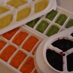 DIY baby food - I don't have babies but I'm re-pinning this for you mommies who might like it. :)