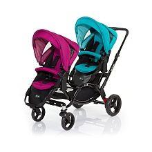 ABC Design - Geschwisterkinderwagen Zoom, Coral-Grape (Design 2015)