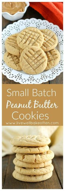 This easy Small Batch Peanut Butter Cookie recipe requires just one bowl! This r… This easy Small Batch Peanut Butter Cookie recipe requires just one bowl! This recipe only makes cookies and they're done in just 30 minutes! Mini Desserts, Small Desserts, Easy Desserts, Dessert Recipes, Cake Recipes, Homemade Desserts, Cookie Desserts, Chocolate Cookie Recipes, Easy Cookie Recipes