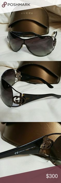 f582645672a17 Gucci Sunglasses  No longer made  Year  2008 Antique Gold Havana Brown Lens  Color