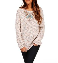 Light Tan Multi Knit Sweater
