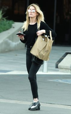 Amber Heard from The Big Picture: Today's Hot Photos  Natural beauty! The actresssteps out wearing all black in Santa Monica.