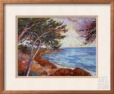 Monterey Cypress Framed Giclee Print by Erin Hanson at Art.com