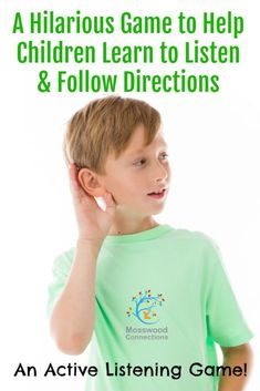 Active group games for kids social skills Ideas Listening Activities For Kids, Aba Therapy Activities, Listening Games, Active Listening, Listening Skills, Teaching Kids, Kids Learning, Play Therapy, Social Activities