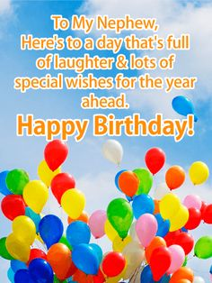 73 Best Birthday Cards For Nephew Images Anniversary Greeting