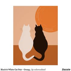 The #posterprint by #KBMD3signs shows a #Black and a #White #Cat sitting companionably at an #orange sundown side by side. The best about the poster#KitchenWallDecor you can #colorityourway to match it perfectly to your kitchen color scheme. Check it out at #zazzle