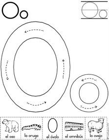 Alphabet Letter O Worksheet Preschool Writing, Preschool Letters, Preschool Lessons, Learning Letters, Preschool Worksheets, Preschool Learning, In Kindergarten, Preschool Activities, Teaching