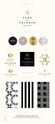 Branding Design for Cone + Coleman | www.EmilyMcCarthy.com | Luxury Branding, Logo, Retail Branding Design