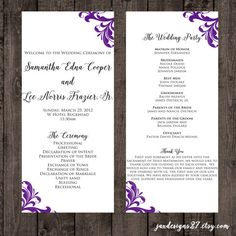 Gold Wedding Program Template Printable Wedding Fan Fan Wedding