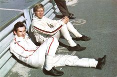 Jacky Ickx (front) and Johnny Servoz-Gavin, 1968 (?).