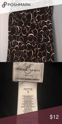 Emma James Skirt Adorable black skirt with circular white pattern and ruffles end.  😍😍😍 Emma James Skirts Midi