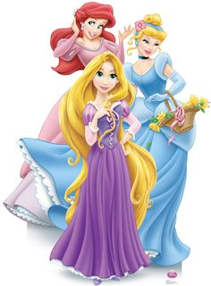 Order the Disney Princess Group Cardboard Cutout - a life size stand up featuring the Disney princesses: Belle, Cinderella and Rapunzel in debut gowns. Princess Theme Party, Disney Princess Party, Princess Birthday, Little Princess, Princess Zelda, Princess Power, Disney Magic, Disney Art, Disney Movies