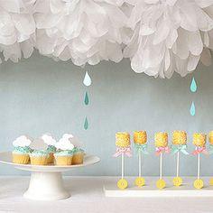 Babyshower inspirado en la lluvia - Inspiración e ideas para fiestas de cumpleaños - Fiestas y Cumples - Charhadas.com