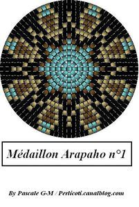 Peyote seed bead pattern medallion