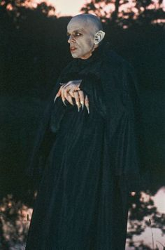 """Nosferatu (by Werner Herzog,1979) - One of the great things about this depiction of a vampire was the rat-like teeth, instead of fangs. Also, that """"sea of rats"""" flooding the cobblestone streets...wow! Klaus Kinski was amazing as Nosferatu"""