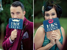 Clue themed murder mystery wedding / Dottie Photography