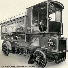 vintage everyday: London Railroad employed steam buses in 1900s