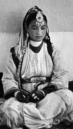 From a portfolio of prints by Jean Besancenot, documenting the costumes and jewellery worn by the Moroccan women. ca. 1950s/60s.