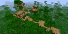 MINECRAFT HOUSE JUNGLE -- I have one kinda like this in a mega taiga biome
