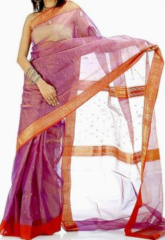 'Chanderi Saris' popular among the Indian upper middle class saree wearers... more on.. http://indianwomenclothingstyle.blogspot.in/2012/12/chanderi-madhya-pradesh.html