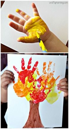 Simple Fall Crafts for Toddlers - easy Fall craft ideas. - Fall Crafts for Toddlers - easy Fall craft ideas. - Basteln im Herbst mit Fall Crafts For Toddlers, Easy Fall Crafts, Children Crafts, Crafts For Girls, Summer Crafts, Daycare Crafts, Baby Crafts, Daycare Rooms, Fun Crafts
