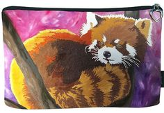 Red Panda Cosmetic Bag by Salvador Kitti by SalvadorKitti on Etsy, $14.98