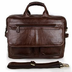 Leather Messenger Laptop Bag
