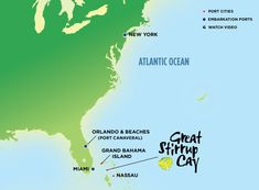 Map of Norwegian's cruises to the Bahamas & Florida from NYC. To book, please contact me at stacey@travelbyhelen.com