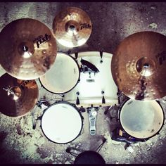 My drumkit!!! Diy Drums, Drums Art, Drum Music, Ear Protection, Cowbell, Drum Lessons, How To Play Drums, Drum Machine, Drum Sets