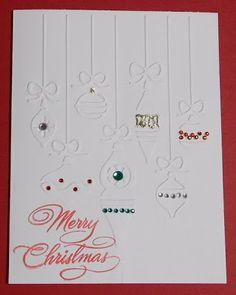 Daily Grace Creations: Cuttlebug Christmas Card