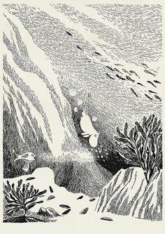 """Zeichnung aus einem """" #Mumin"""" Buch ---- Illustration from a #moomin book"""
