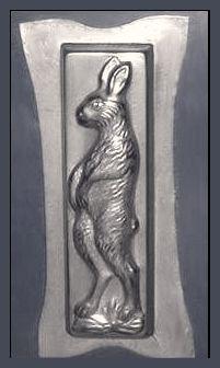 Standing Hare, antique rabbit chocolate mold