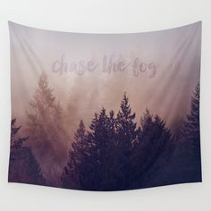 chase the fog by Sylvia Cook Photography #walltapestry #wallart