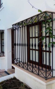 Window Grill Design Modern, House Window Design, Balcony Grill Design, Balcony Railing Design, Village House Design, Home Room Design, Home Design Plans, Home Interior Design, Gate Wall Design