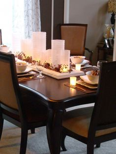 Fall Dining Room Table   Dining room table, Mosaics and Holidays
