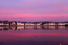 Stunning evening photo of Port Ellen, Islay, Scotland #ScottishRoutesOnPinterest