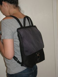 black backpack city bag secure backpack black by LIGONaccessories, $75.00