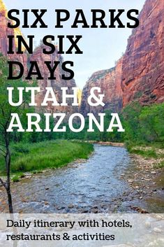 us travel outdoor vacation ideas. Planning a national parks road trip to Utah and Arizona? Here's our day-to-day itinerary with hotels, restaurants, and activities. Arizona Road Trip, Road Trip Usa, Arizona Travel, Sedona Arizona, Best Road Trips, Road Trip Tips, West Coast Road Trip, Family Road Trips, Utah Vacation