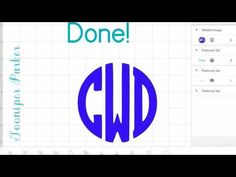 Create a frame for your monogram in Design Space - Cricut Design Space - YouTube