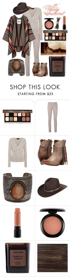 """""""Wilder Southwest:  Canyon Run"""" by wildersouthwest ❤ liked on Polyvore featuring Laura Mercier, J Brand, Isabel Marant, La Méricaine, Lucchese, Stetson, MAC Cosmetics, Tom Ford and Burke Decor"""
