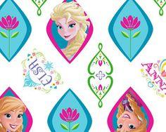 1255 Quilt Cotton Fabric Fat Quarter Disney Frozen Elsa  amp  Ana Vingette Disney  Frozen 405c4a35ac